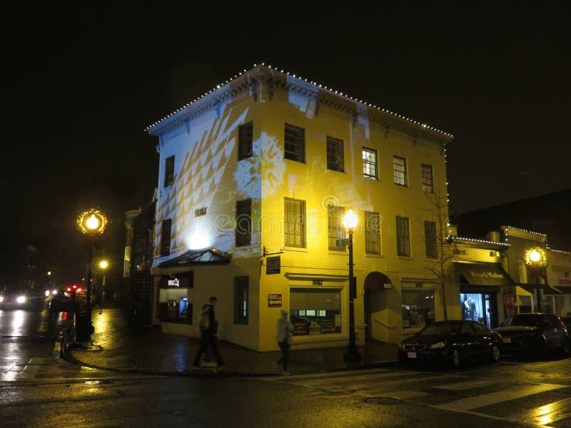 在一个大厦的现代美术展览在乔治城 免版税图库摄影