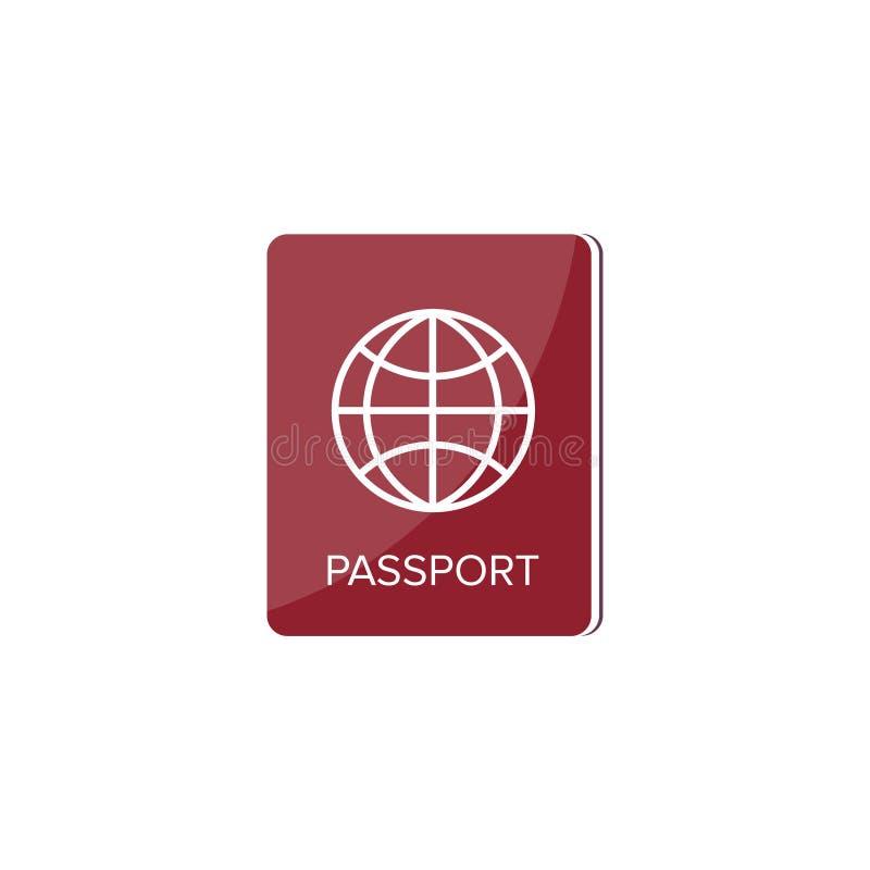 在一个平的样式的护照 旅行,移出 公民身份 乘客文件 也corel凹道例证向量 皇族释放例证