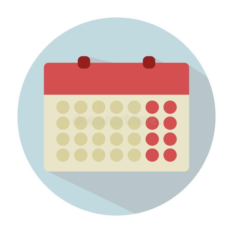 在一个平的样式的风格化日历 月 安静色的颜色 B 皇族释放例证