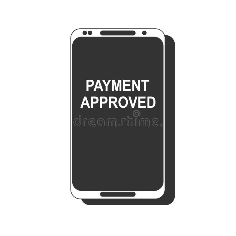 在一个手机屏幕上的付款全部的消息 库存例证
