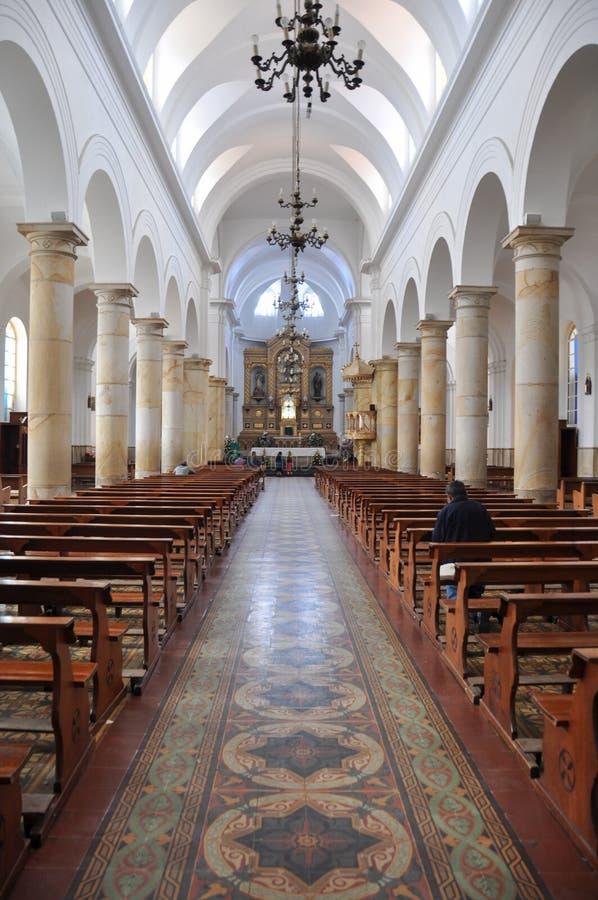 在一个教会里面在Chia,哥伦比亚 图库摄影