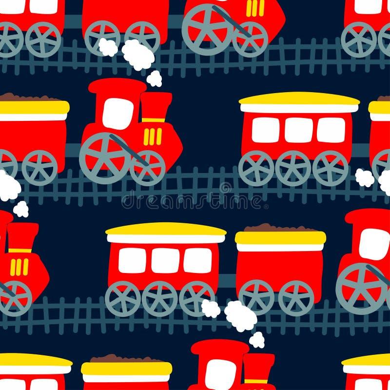Download 在一个无缝的样式的一点蒸汽火车 向量例证. 插画 包括有 引擎, 移动, 字符, 呼吁, 孩子, 数据条 - 72350069