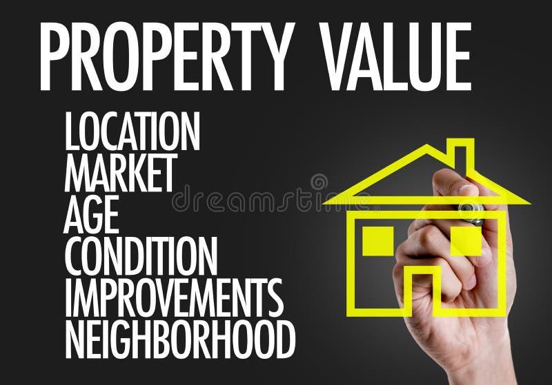 在一个概念性图象的财产价值 免版税库存照片