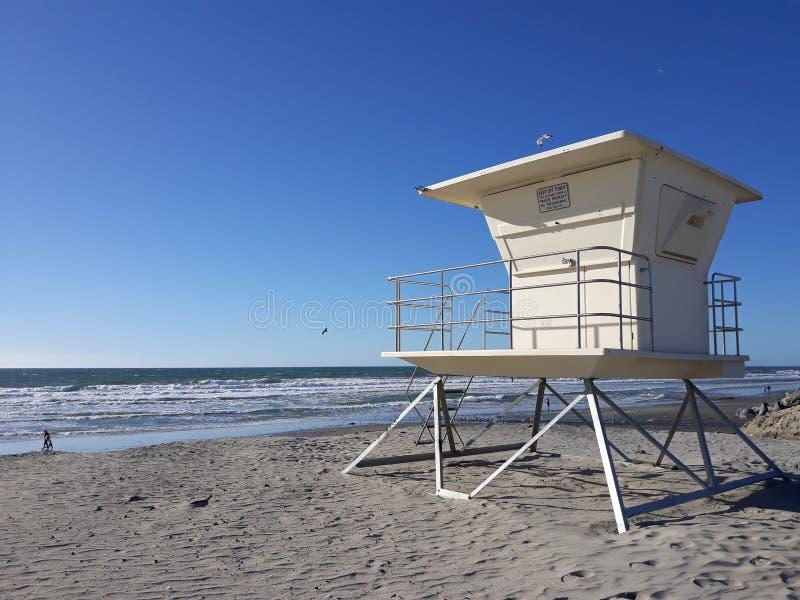 在一个海滩的看法在恩西尼塔斯 库存图片