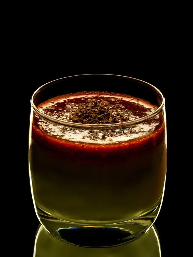 在一个玻璃杯子的Panakota 库存图片