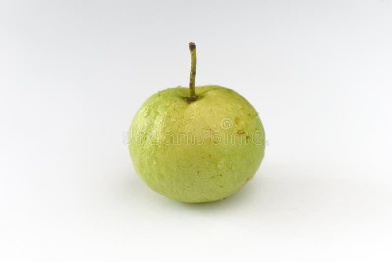 在一个白色地板安置的番石榴果子 免版税图库摄影