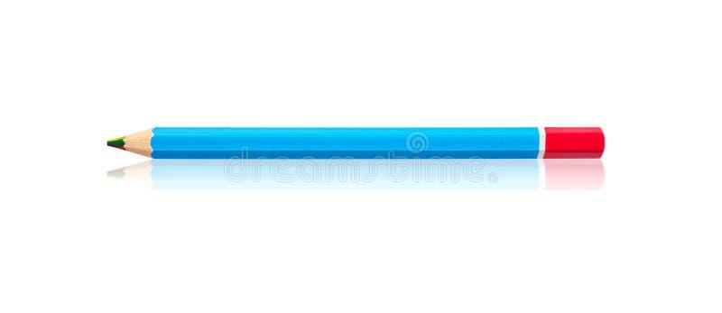 在一个的多色木铅笔或彩虹颜色铅笔 免版税图库摄影