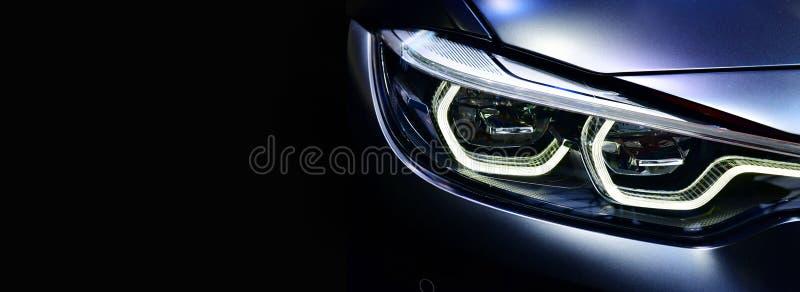 在一个的细节LED车灯现代汽车 免版税库存照片