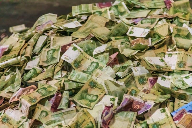 在一个皇家坟墓的金钱在明十三陵,建造由e 免版税库存图片