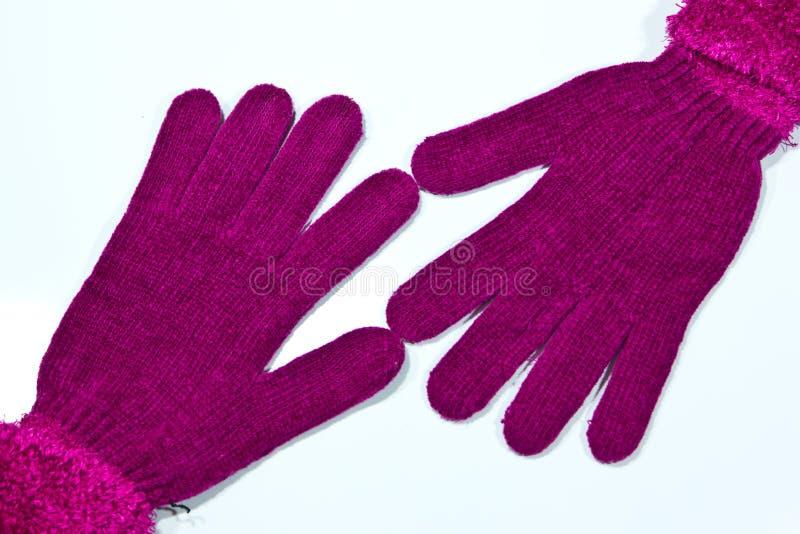 在一个空白背景的手套 免版税图库摄影