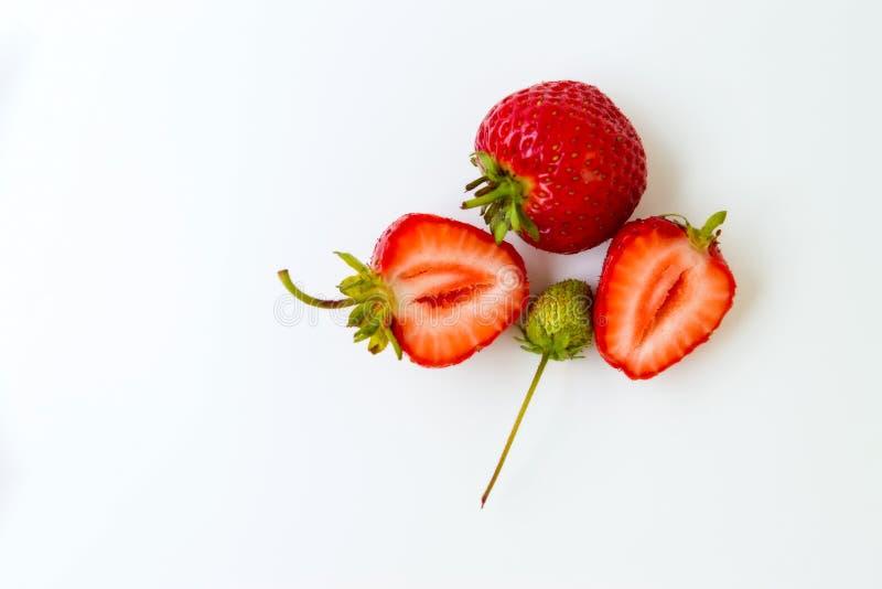 在一个空白背景的草莓 免版税库存照片