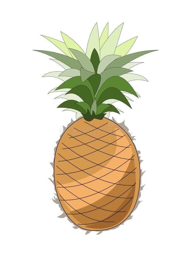 在一个空白背景的菠萝 免版税库存照片