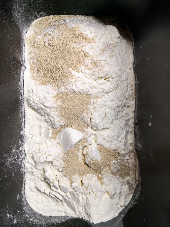 在一个自创机器的揉的面包 免版税库存图片
