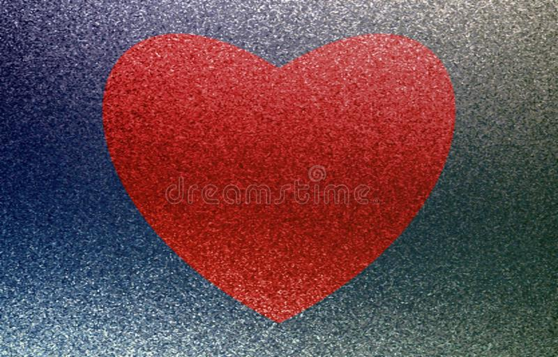 在一个蓝色背景的红色重点 油漆作用 向量例证
