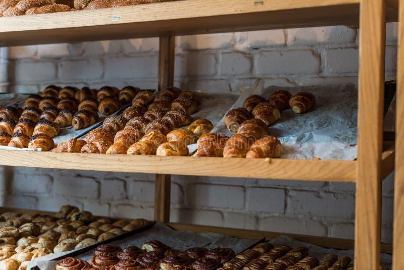 在一个面包店在卡法萨巴 免版税图库摄影