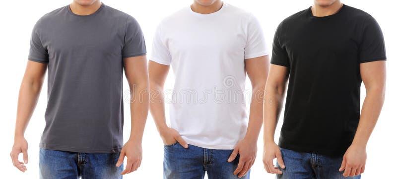 在一个年轻人的T恤杉 免版税库存照片