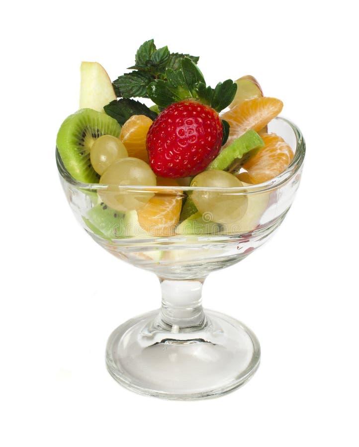 在一个玻璃碗的水果沙拉 库存照片