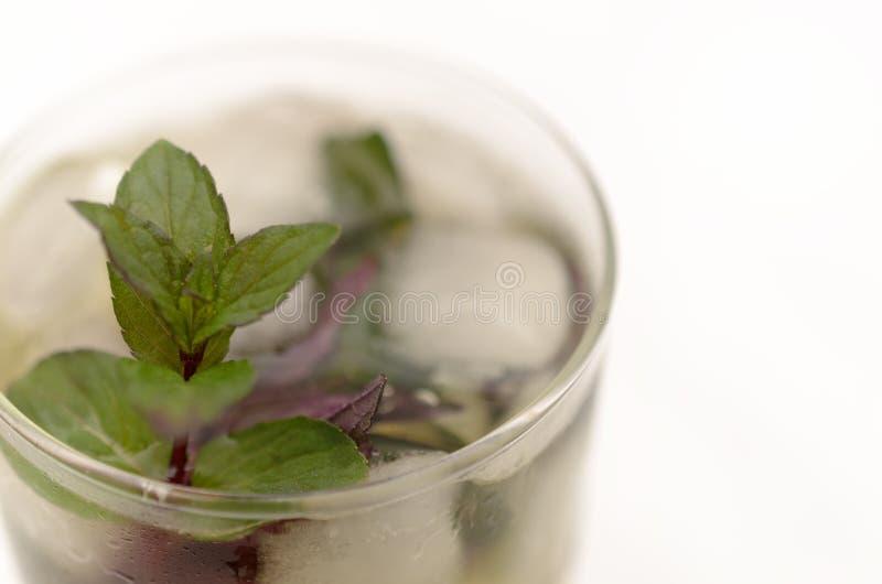 在一个玻璃觚的肯塔基德比饮料在轻的背景 免版税库存图片