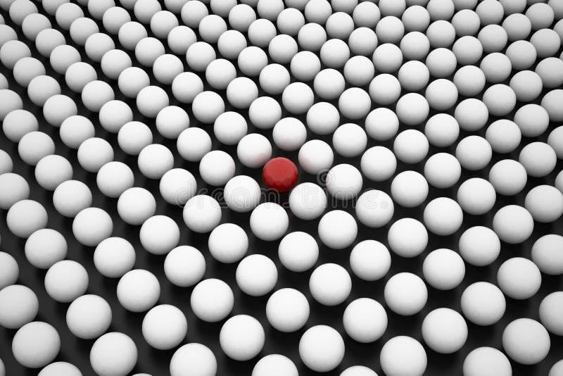 在一些的红色范围空白范围之间 库存例证