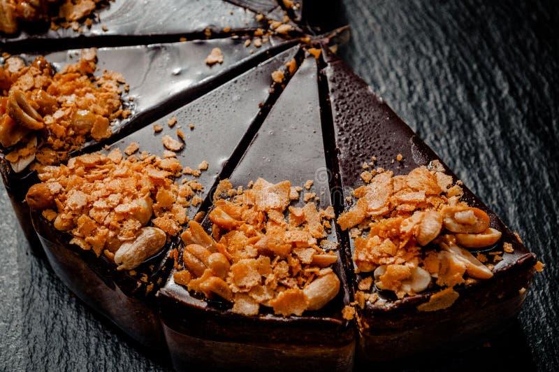 在一块大理石板材的乳酪蛋糕 免版税图库摄影