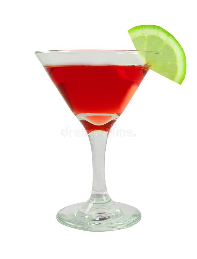在一块玻璃的巴卡迪鸡尾酒与石灰 库存图片