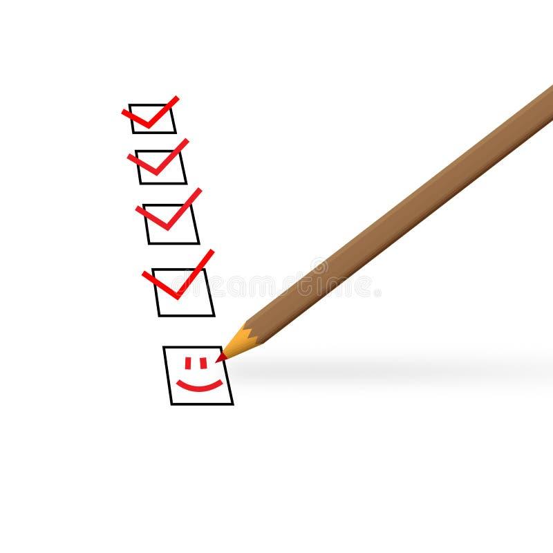 在一张白色纸片在红色铅笔的标记了正方形 皇族释放例证