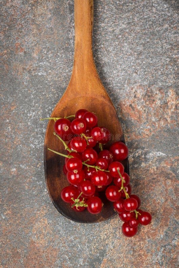 在一把木匙子的无核小葡萄干 图库摄影