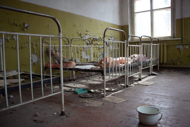 在一次核事故以后的生活 切尔诺贝利 库存照片
