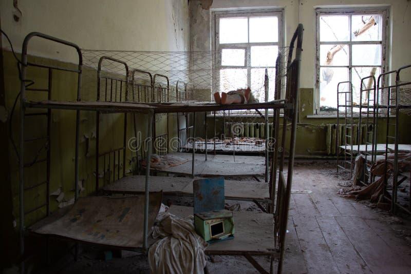 在一次核事故以后的生活 切尔诺贝利 免版税库存照片