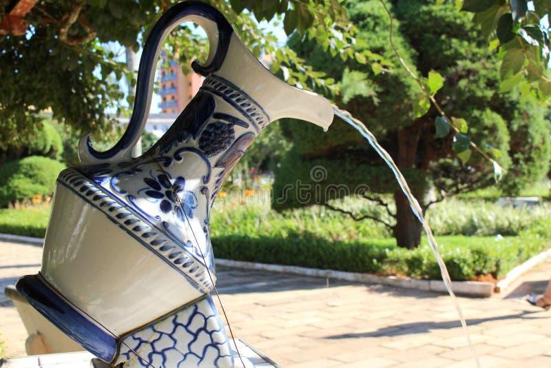 在一点城市的著名瓷在巴西, Monte Siao MG 库存照片