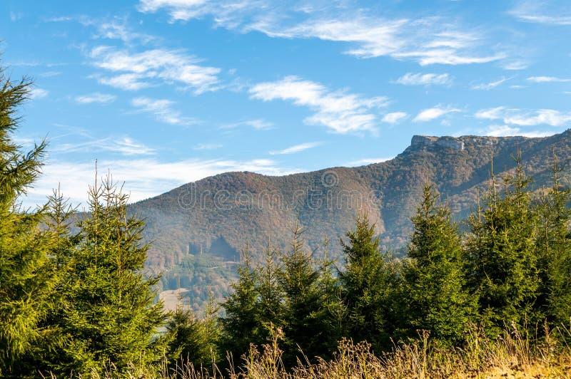 在一点Fatra山的Klak峰顶 免版税库存照片