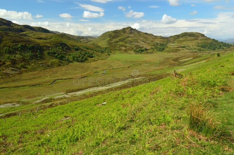 在一般涉过军用路苏格兰的惊人的风景 库存图片