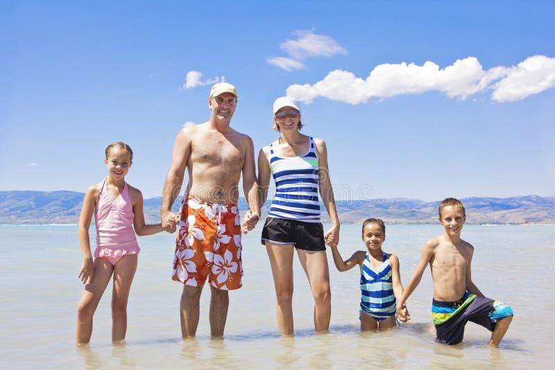 在一起一个海滩假期的系列 库存照片