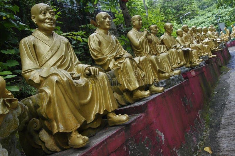 在万佛寺的雕象在沙公锡 库存照片