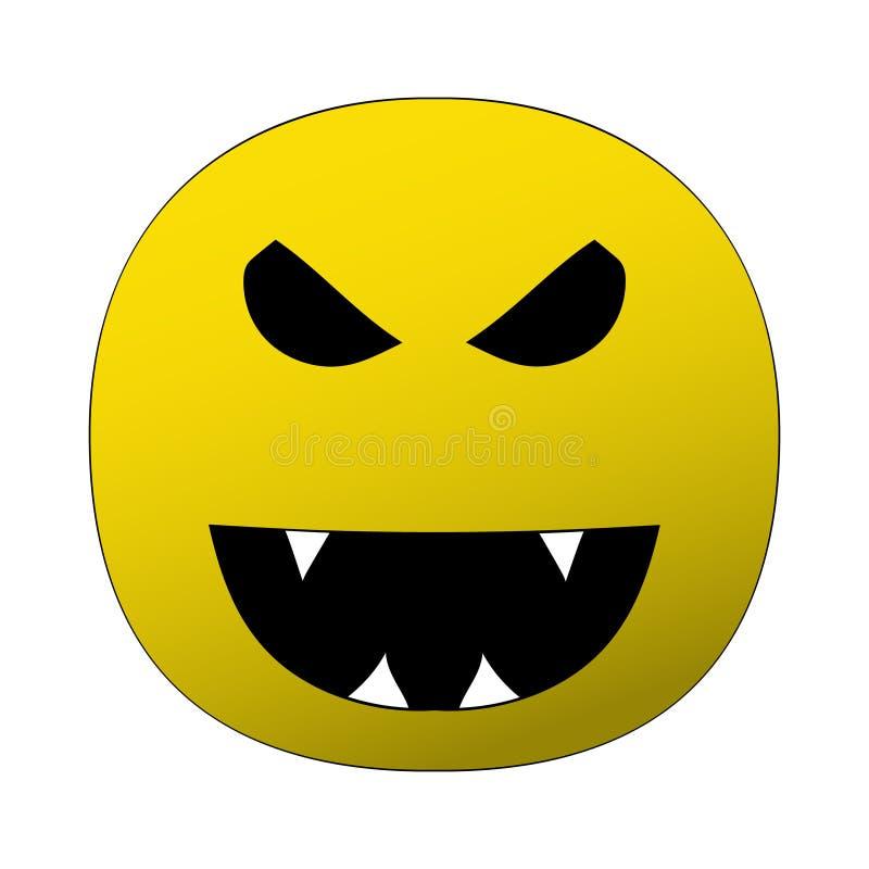 在万圣夜题材的例证  邪恶的微笑的图象与犬齿的 库存例证