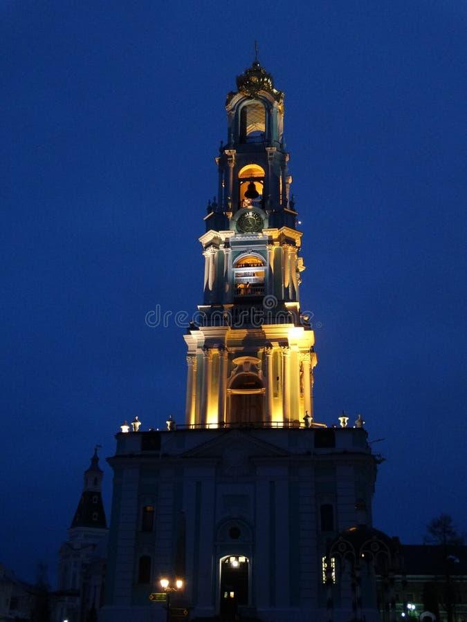 在三位一体- Sergius拉夫拉的钟楼 免版税库存照片
