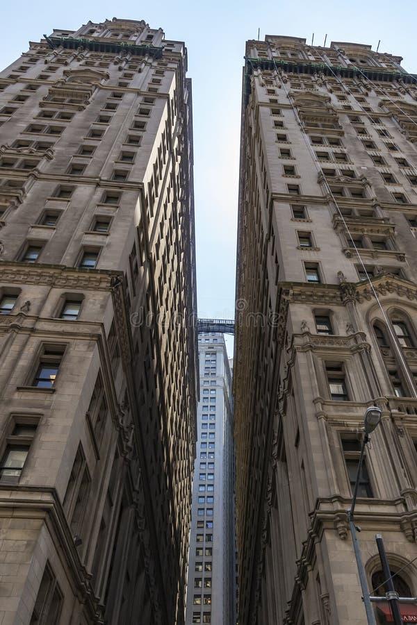 在三位一体St纽约,美国的轰烈的大厦 库存图片