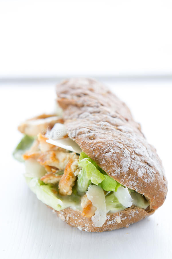 在三明治的凯萨色拉 库存照片