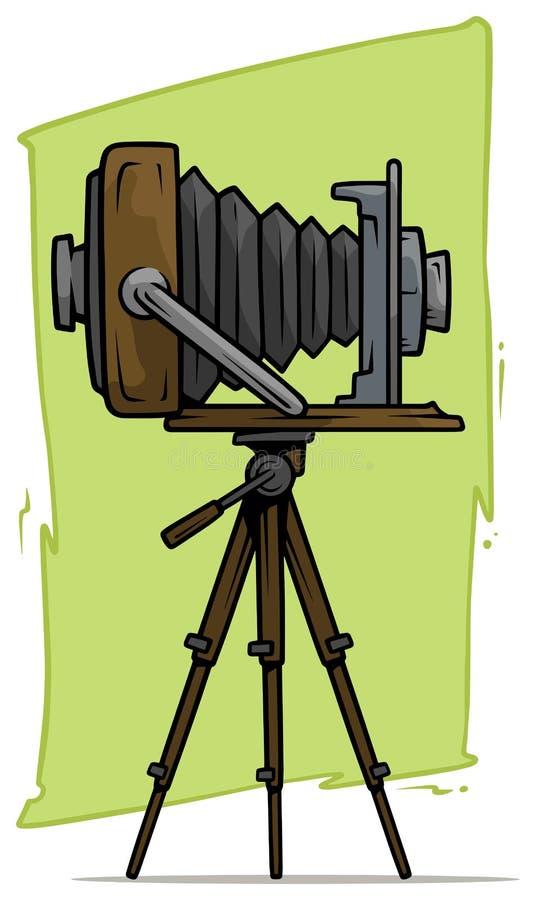 在三脚架传染媒介象的动画片减速火箭的葡萄酒照相机 皇族释放例证