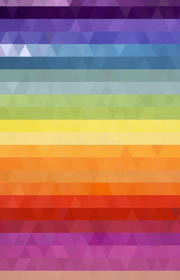 在三角样式的五颜六色的背景 库存图片
