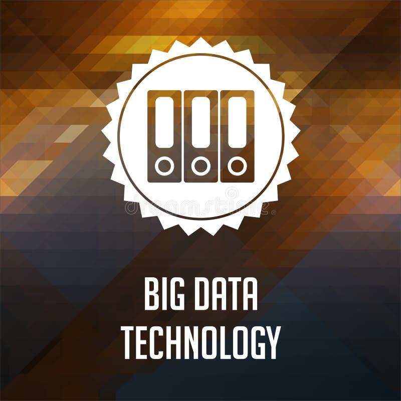在三角背景的大数据技术。 皇族释放例证