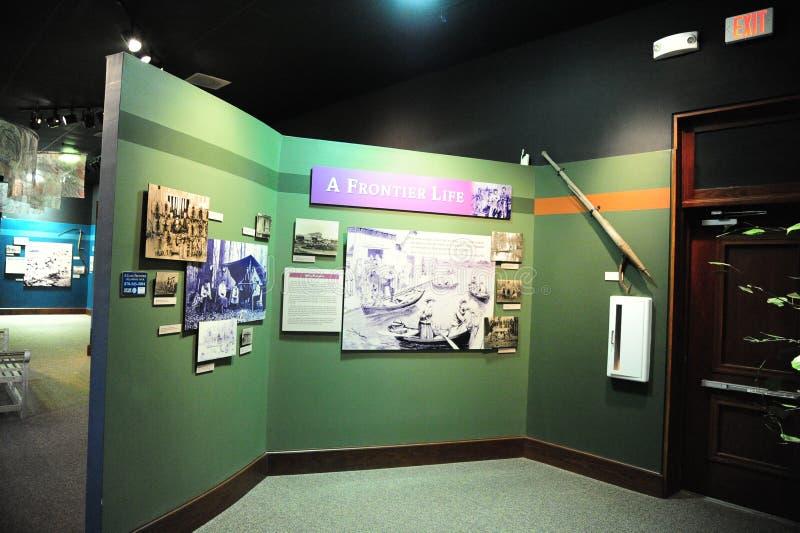 在三角洲文化列车车库,海伦娜阿肯色的一个边境生活展览 免版税库存图片