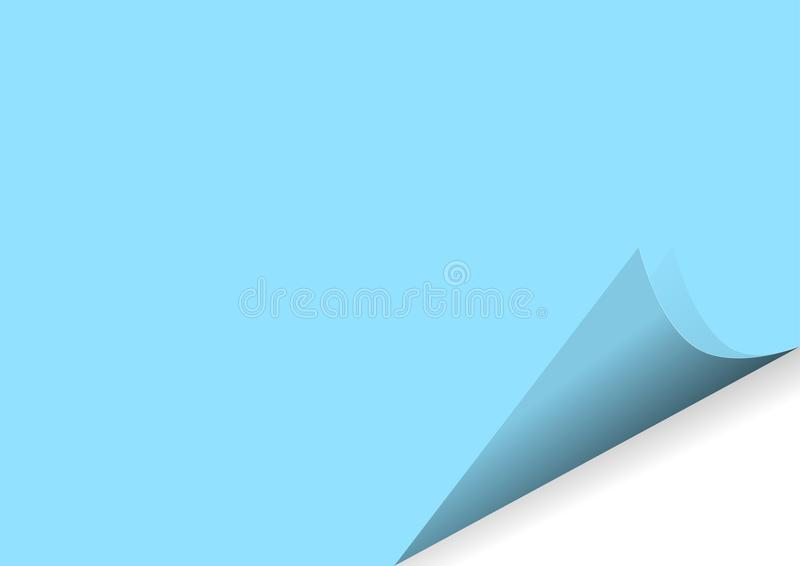 在上写字的空白的叶子贴纸以传染媒介例证的形式 向量例证