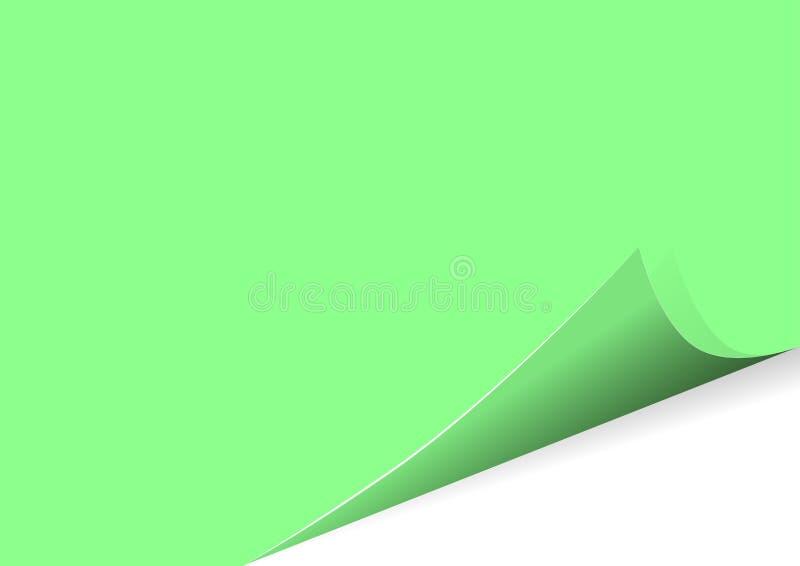 在上写字的空白的叶子贴纸以传染媒介例证的形式 库存例证
