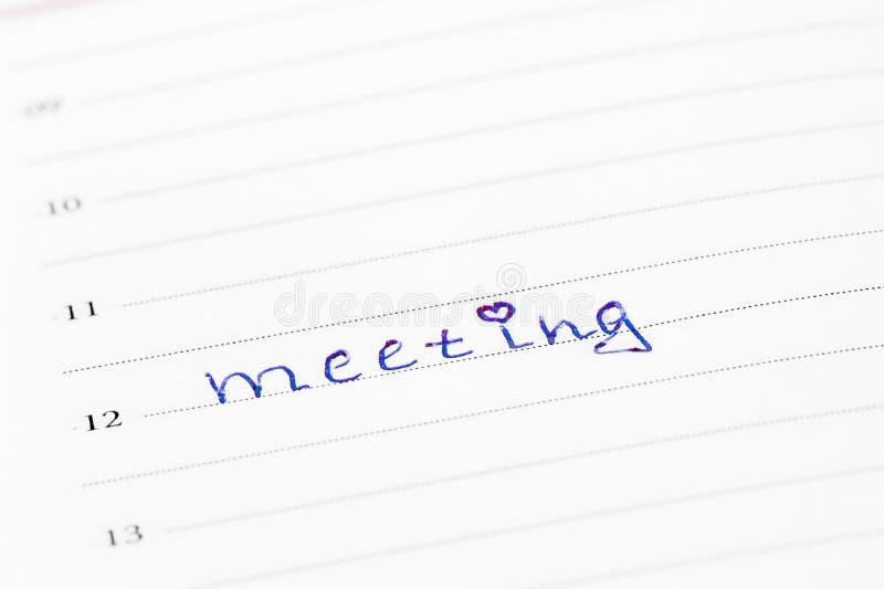 在上午12点的浪漫会议 库存照片