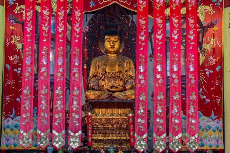 在上海玉佛寺上海瓷的雕象 库存照片