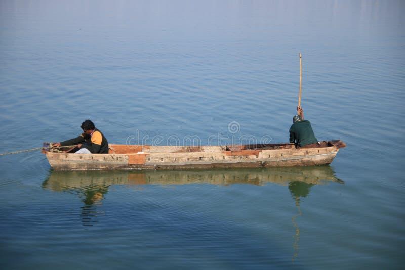 在上部湖的划船 库存照片