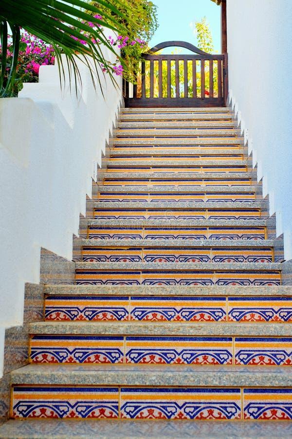 在上面的中国东部楼梯 库存图片