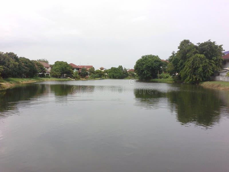 在下午的运河 免版税库存照片