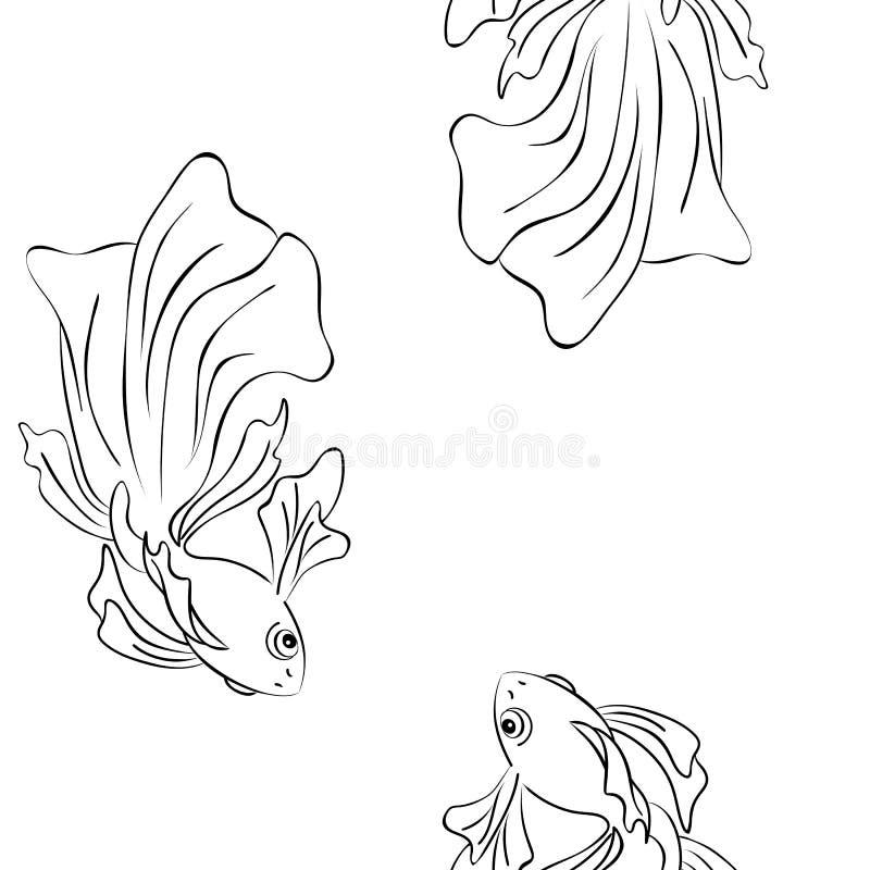 在不一致的金鱼游泳 r 库存例证